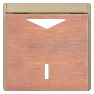 Карточный выключатель механический в отделке Soho Fede Brushed Copper бежевый