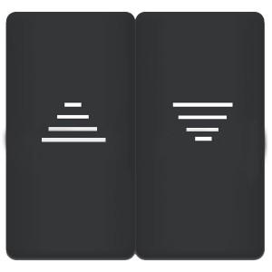 Клавиша 2-ная для механизма управления жалюзи, Fede Bright patina черный