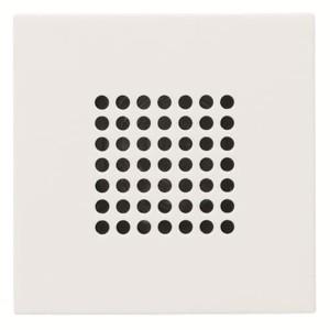 Накладка (решётка) для громковорителя 2 (арт.9329) Zenit белый (N2229 BL)