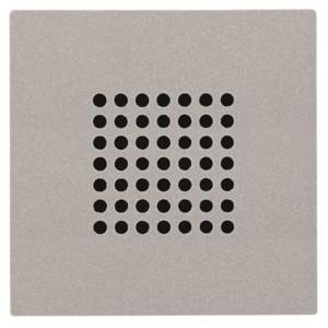 Накладка (решётка) для громковорителя 2 (арт.9329) Zenit  серебряный (N2229 PL)