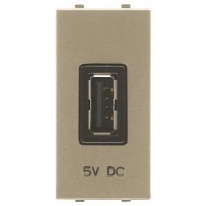 USB зарядное устройство 1 модуль 2000мА ABB Zenit,шампань (N2185.2 CV)