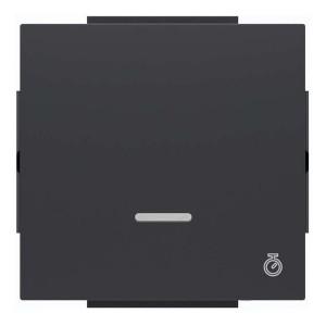 Клавиша для 1-клавишных выключателей с таймером ABB Niessen Sky, чёрный бархат (8562 NS)