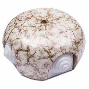 Коробка распределительная D86*50мм (4 кабельных ввода) Bironi Фаберже, керамика цвет мрамор золото