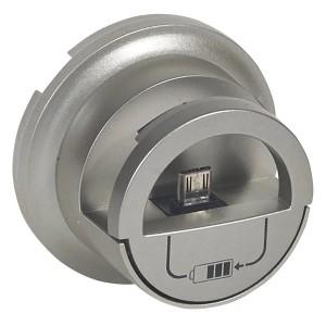 Лицевая панель розетки-зарядки USB с подставкой для смартфона Legrand Celiane титан