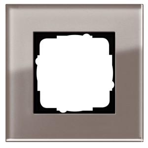 Рамка 1-ая Gira Esprit Дымчатое стекло
