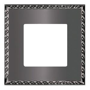 Рамка на 1 пост, гор/верт. Fede TOLEDO, graphite