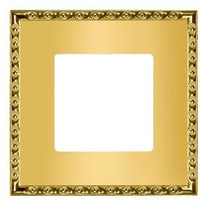 Рамка на 1 пост, гор/верт. Fede TOLEDO, real gold