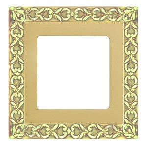Рамка на 1 пост гор./верт. Fede SAN SEBASTIAN, bright gold