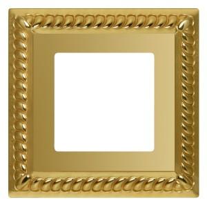 Рамка на 1 пост гор/верт. Fede SEVILLA, bright gold