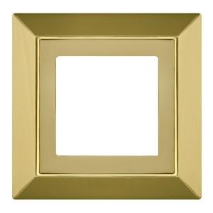 Рамка на 1 пост гор/верт Fede Barcelona Provence, bright gold