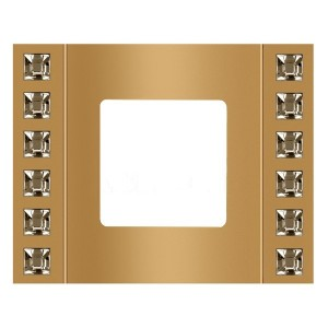 Рамка 1-ная Crystal De Luxe Velvet, Real Gold