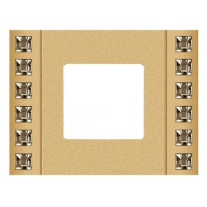 Рамка 1-ная Crystal De Luxe Decor, Real Gold