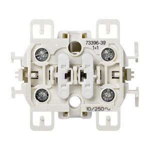 Выключатель двухклавишный кнопочный для управления жалюзи, 10А 250В, S73,  Simon 73 Loft