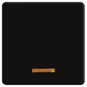 Клавиша широкая с подсветкой Fede черный