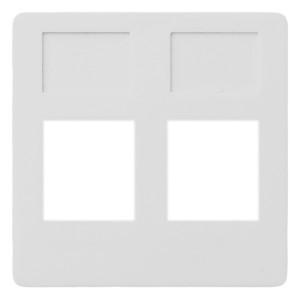 Накладка 2-ая компьютерная/телефонная RJ45/RJ11 Fede Белый