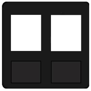 Накладка 2-ая компьютерная/телефонная RJ45/RJ11 Fede Черный