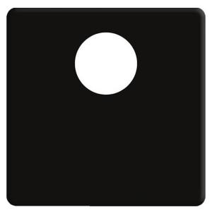 Накладка TV розетки Fede Черный