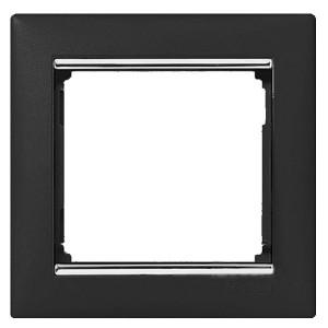 Рамка Legrand Valena 1 пост ноктюрн/серебряный штрих