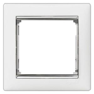 Рамка Legrand Valena 1 пост белый/серебряный штрих