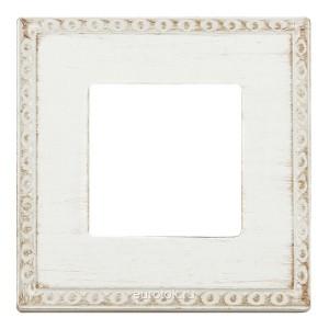 Рамка на 1 пост гор/верт Fede TOLEDO, white decape