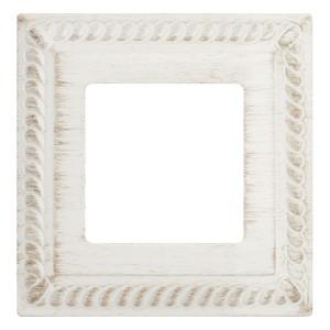Рамка на 1 пост гор/верт. Fede SEVILLA, white decape
