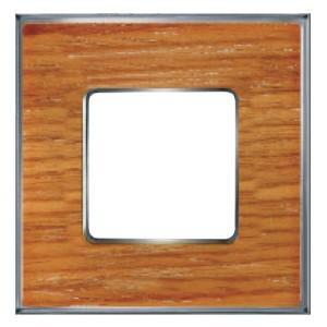 Рамка 1-ная Fede Vintage Wood, cherry-bright chrome