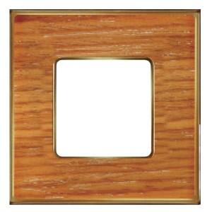 Рамка 1-ная Fede Vintage Wood, cherry-bright gold