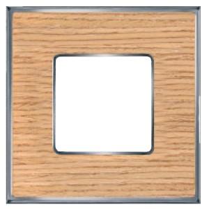 Рамка 1-ная Fede Vintage Wood, oak-bright chrome