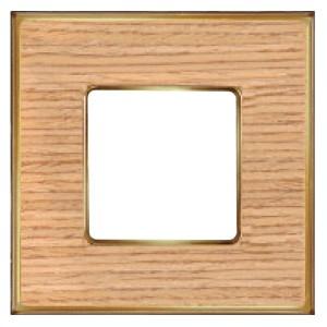 Рамка 1-ная Fede Vintage Wood, oak-bright gold