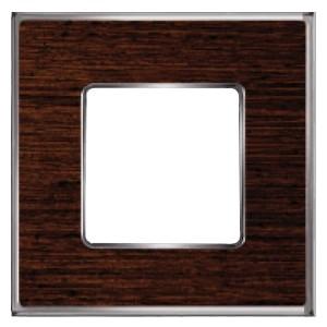 Рамка 1-ная Fede Vintage Wood, wengue-bright chrome