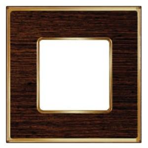 Рамка 1-ная Fede Vintage Wood, wengue-bright gold