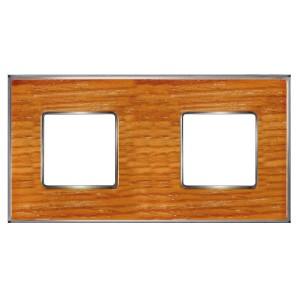Рамка 2-ная Fede Vintage Wood, cherry-bright chrome