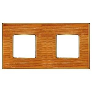 Рамка 2-ная Fede Vintage Wood, cherry-bright gold