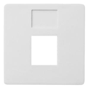 Накладка 1-ая компьютерная/телефонная RJ45/RJ11 Fede Белый