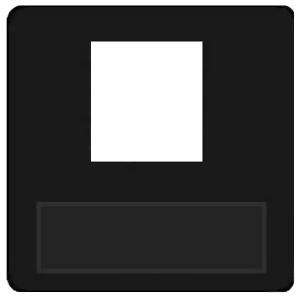 Накладка 1-ая компьютерная/телефонная RJ45/RJ11 Fede Черный