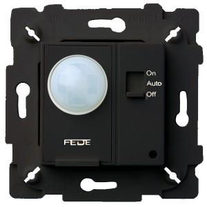 Выключатель с ИК-датчиком, с суппортом 800Вт 250В Fede Черный