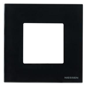 Рамка 1-постовая, 2-модульная, серия Zenit, антрацит (N2271 AN)