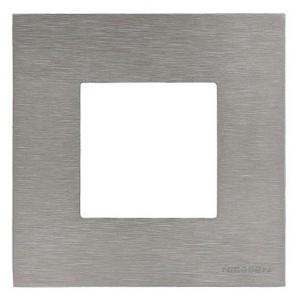 Рамка 1-постовая, 2-модульная, серия Zenit, натуральная сталь (N2271 OX)