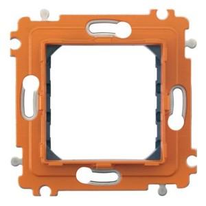 Суппорт для рамки на 2 модуля, фиксация на клипсах Axolute