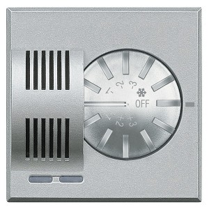 Датчик изменения комнатной температуры систем отопления и охлаждения Bticino MyHOME Axolute алюминий