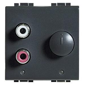Встраиваемый разъем RCA для внешней стереосистеме 2м Bticino MyHOME LivingLight антрацит