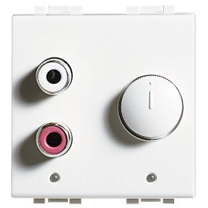 Встраиваемый разъем RCA для внешней стереосистеме 2м Bticino MyHOME LivingLight белый