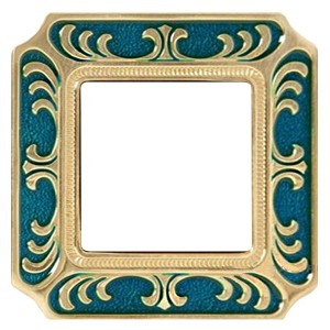 Рамка 1-ная Siena Smalto Italiano Fede Blue Sapphire