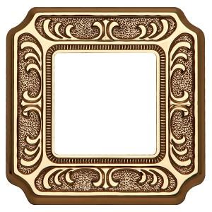 Рамка 1-ная Fede SIENA, bright gold