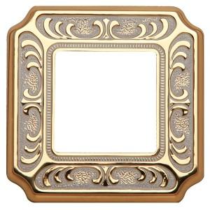 Рамка 1-ная Fede SIENA, gold white patina