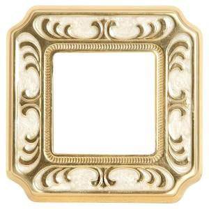 Рамка 1-ная Siena Smalto Italiano Fede Pearl White