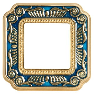 Рамка 1-ная Fede Firenze Smalto Italiano, blue sapphire