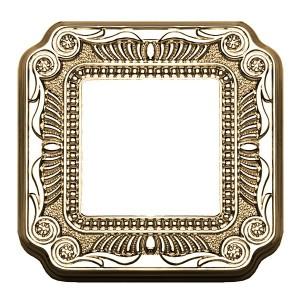 Рамка 1-ная Fede FIRENZE, bright gold