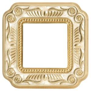Рамка 1-ная Fede Firenze Smalto Italiano, pearl white