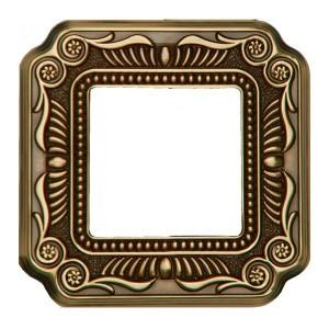 Рамка 1-ная Fede FIRENZE, bright patina